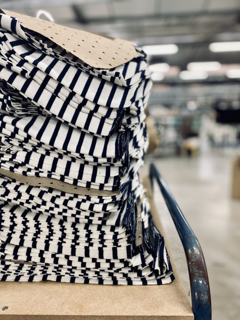 pull breton en maille à rayures